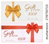 voucher template with floral... | Shutterstock .eps vector #278750723
