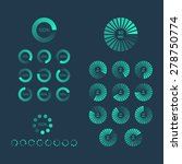 download progress indicator set.... | Shutterstock .eps vector #278750774