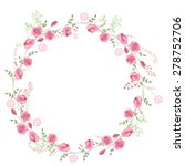 detailed contour wreath with... | Shutterstock .eps vector #278752706