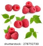 Raspberries Isolated