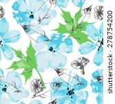 fresh floral paint seamless... | Shutterstock .eps vector #278754200