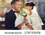 husband and his wife smiling... | Shutterstock . vector #278755058