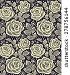 roses lace seamless pattern. | Shutterstock .eps vector #278756144