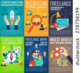 business mini poster set with... | Shutterstock .eps vector #278758199