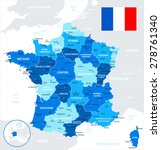 france   map and flag  ... | Shutterstock .eps vector #278761340