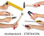 set of peoples hands holding... | Shutterstock . vector #278764196