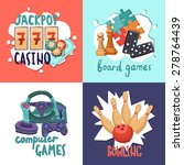 game design concept with casino ...   Shutterstock .eps vector #278764439
