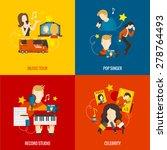 pop singer design concept set... | Shutterstock .eps vector #278764493