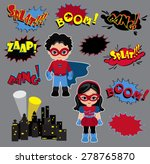 colorful cartoon text captions. ... | Shutterstock .eps vector #278765870