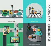 traffic design concept set with ... | Shutterstock .eps vector #278766470