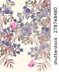 beautiful summer meadow flowers ... | Shutterstock . vector #278768480