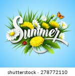 fresh summer background with... | Shutterstock .eps vector #278772110