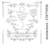 vector set of elegant curls and ... | Shutterstock .eps vector #278774930