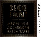 art deco style lettering in gold | Shutterstock .eps vector #278775338