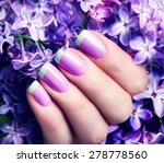 manicured nails nail polish art ... | Shutterstock . vector #278778560