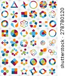collection of infographic... | Shutterstock .eps vector #278780120