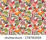seamless tropical flower  plant ... | Shutterstock . vector #278783504