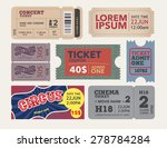tickets collection in vintage... | Shutterstock .eps vector #278784284