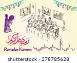 Hand Drawn Ramadan Festivity...