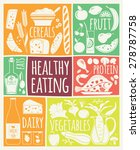 vector illustration of healthy... | Shutterstock .eps vector #278787758