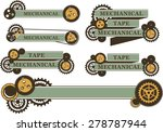 set of ribbons and banners...   Shutterstock .eps vector #278787944