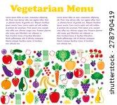 vegetarian menus of restaurants ...   Shutterstock .eps vector #278790419