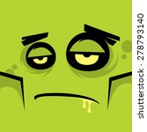 cartoon expression monster | Shutterstock .eps vector #278793140