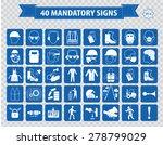 mandatory signs  construction... | Shutterstock .eps vector #278799029