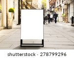 blank outdoor white board at a... | Shutterstock . vector #278799296