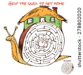 funny maze game for kids. maze... | Shutterstock .eps vector #278802020