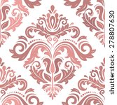 damask seamless pattern. fine ... | Shutterstock . vector #278807630