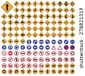 traffic sign yellow red blue... | Shutterstock .eps vector #278821319