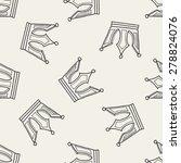 crown doodle seamless pattern... | Shutterstock . vector #278824076