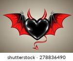 black heart with vampire wings...