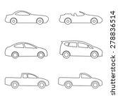 car  icon   line set vector... | Shutterstock .eps vector #278836514