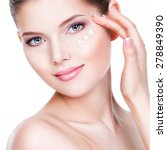 closeup portrait of young woman ... | Shutterstock . vector #278849390