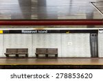 Nyc Subway Station And Bench