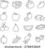 fruit icons. vector... | Shutterstock . vector #278853869