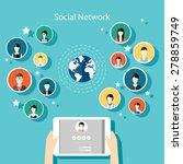social network vector concept....   Shutterstock .eps vector #278859749