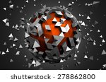abstract 3d rendering of low... | Shutterstock . vector #278862800