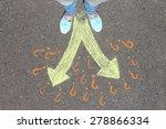 female feet making choice on... | Shutterstock . vector #278866334
