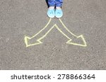 female feet making choice on... | Shutterstock . vector #278866364