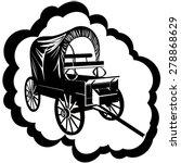 vintage van for traveling in an ... | Shutterstock .eps vector #278868629