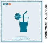 vector glass of juice icons    Shutterstock .eps vector #278871008
