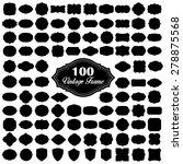set of 100 blank vintage frame | Shutterstock .eps vector #278875568