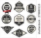 retro badges and labels... | Shutterstock .eps vector #278883113
