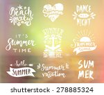a set of typographic summer... | Shutterstock .eps vector #278885324