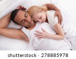couple asleep in a bed in an... | Shutterstock . vector #278885978