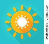 Illustration Of A Sun Icon Wit...