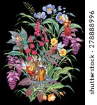 flowers  herbs and orchestra of ... | Shutterstock . vector #278888996
